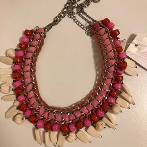 Jewelry - Preppy chunky pink necklace southern New with tags